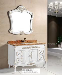 PVC / Solid Wood Bathroom Vanity Cabinets for Sanitary Ware pictures & photos