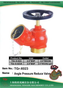 "Pressure Reduce Fire Hydrant Angle Valve: 2.5"" Bsp/BS336 pictures & photos"