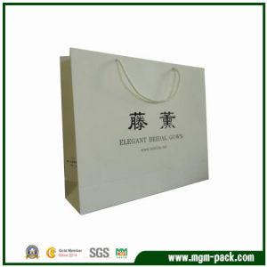 Simple Design Custom Rectangle White Paper Handbag pictures & photos