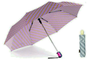 Colorful DOT 3 Fold Windproof Auto Umbrellas (YS-3FA22083962R) pictures & photos