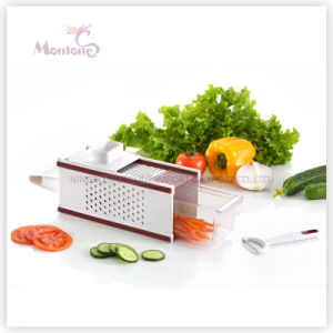 Multifunction 5 in 1 Square Cheese Slicer Vegetable Grater pictures & photos
