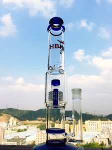 Hb-K8 Double Loop Filter Smoking Glass Pipe, Recycle Smoking Pipes, High-Grade Glass Water Pipe pictures & photos