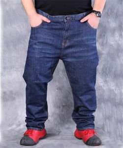 P1172 Men High Waist Loose Jeans with High Elasticity pictures & photos