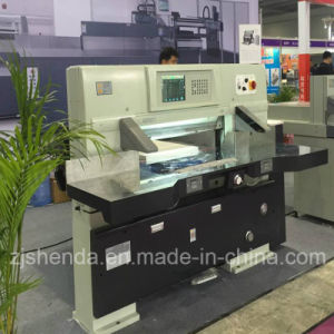 Microcomputer Worm Wheel Paper Cutting Machine for Sale (QZ-92CT KD) pictures & photos