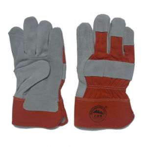 Full Palm Anti Cut Leather Industial Working Glove pictures & photos
