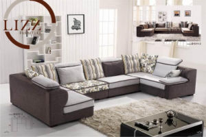 Corner L Shape Home Furniture Fabric Sofa pictures & photos