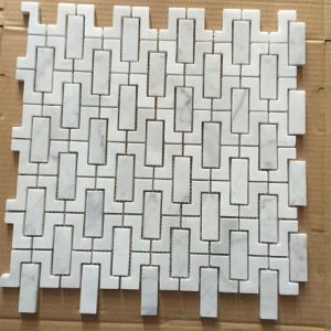 Bianco Carrara White Marble Mosaic for Bathroom Wall pictures & photos