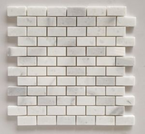Natural Stone White Marble Mini Brick Mosaic pictures & photos
