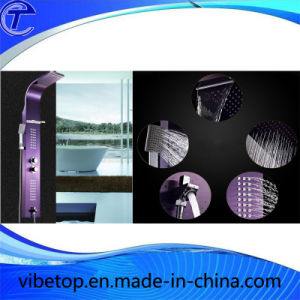 Wholesale Newest Design Purple Top Shower Sets with High Quality pictures & photos