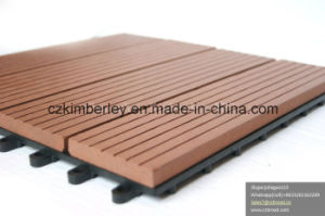 Wood Plastic Composite DIY Decking Floor for Outdoor Patio pictures & photos