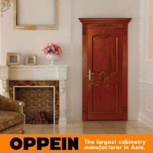 Oppein Euro Style Brown Solid Wooden Door (MSSD03) pictures & photos