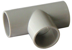 Plastic UPVC Fittings Inspection Elbow 90 AS/NZS 2053 Standard for Electrical in White Colour pictures & photos