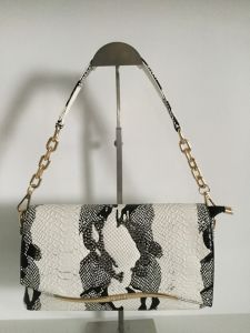 Snake Pattern Material with Diamond Detachable Metal Chain Shoulder Bag (D-A08)