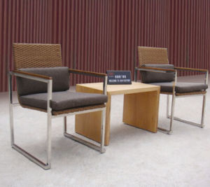 Public Furniture with 2 Seats and 1 Table Save Space pictures & photos