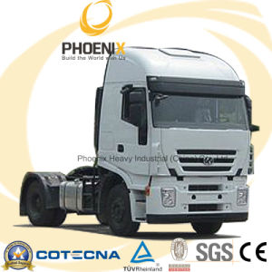 380HP 4X2 LHD Hongyan Iveco Jielion Trailer Truck with Two Sleeper pictures & photos