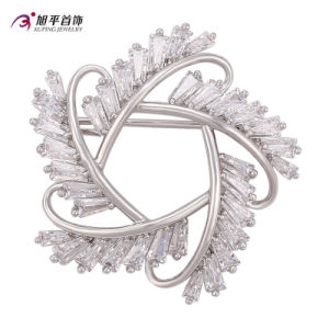 Xuping Fashion Elegant Rhodium Crystals From Swarovski Jewelry Brooch -00009 pictures & photos
