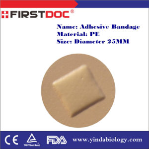 High Quality OEM Diameter 25mm PE Material Skin Color Adhesive Bandages pictures & photos