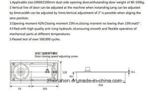 Xc-D3105 Door Hardware Glass Door Floor Spring pictures & photos