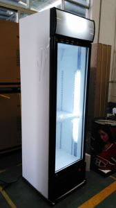 Slef-Closing Glass Door Upright Showcase pictures & photos