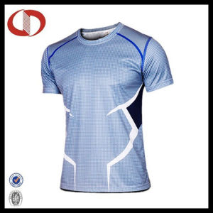 Wholesale Fashion Printing Breathable Man Sportswear Running T Shirt pictures & photos