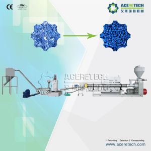 Two-Stage Recycling and Pelletizing Production Machine for PE Flakes pictures & photos