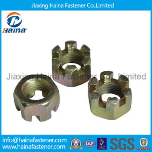 Zinc Plated 4.8grade Hex Slot Nut Castel Nut Kee Nut pictures & photos