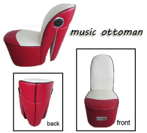 Music Storage Multifunctional Modern PVC Leather Ottoman pictures & photos