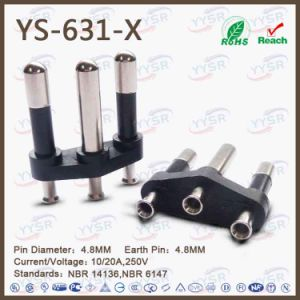 Yysr-633 Brasil 3 Pin Plug pictures & photos