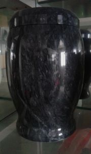 Black Grain Marble Urn Wholesale pictures & photos