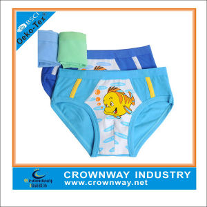 Custom Cute Boy Boxers Shorts Underwear with Screen Printing pictures & photos