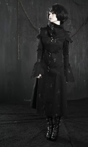 Gothic High-Collar Russian Fashion Coat Winter Coat Factory (Y-209) pictures & photos