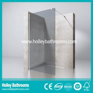 European Style Walk-in Door Colorful Glass Simple Shower Screen (SE716K)