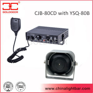 80W Police Car Electronic Siren with Flat Speaker (CJB-80CD) pictures & photos