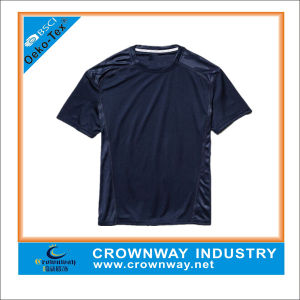 Custom Short Sleeve Summer Dry Fit Men′s Sport Shirt pictures & photos