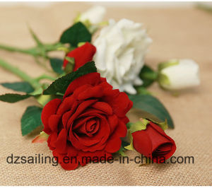 Single Stem Rose Pick Artificial Flower (SW03335)