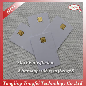 Blank Contact IC Chip Inkjet PVC Cards Double Sided Printing pictures & photos