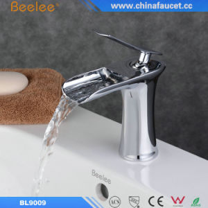 Beelee Brass Waterfall Bathroom Basin Faucet with Ce Approved