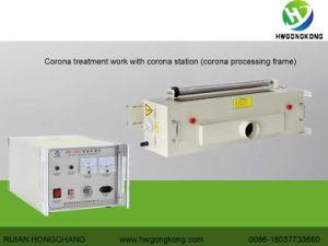 Surface Corona Treating Machine for Film Printing Machine (HW2002 2kw) pictures & photos
