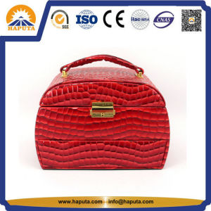 Custom Fashion Elegant PU Leather Cosmetic Bags pictures & photos