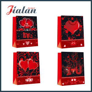 Valentine Holiday Design Cheap Wholesales Customize 4c Printed Paper Bag pictures & photos