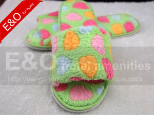 Soft Plush EVA Sole Hotel Indoor Lady Women Slippers pictures & photos