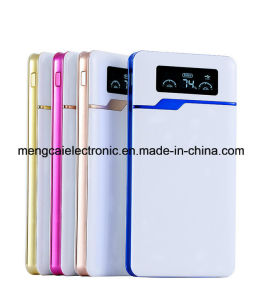 Free Sample High quality Ultra-Thin 12000 Ma Dual USB LED Display with Torch Smart Rechargeable Power Bank pictures & photos
