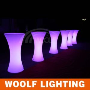 Small Round Party LED Light Bar Cocktail Table pictures & photos