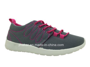 Popular PVC Injection Mesh Sport Shoes for Women (X177-L)