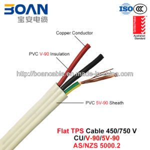Flat TPS Cable, PVC Power Cable, 450/750 V, Cu/PVC/PVC Flat Cable (AS/NZS 5000.2) pictures & photos