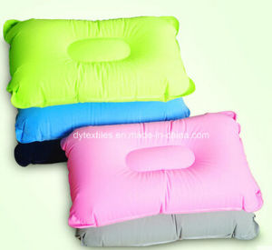 (free sample) Flatable Square Shape Flocking Neck Pillow pictures & photos