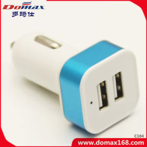 Mobile Cell Phone 2 Dual USB Metal Travel Car Charger pictures & photos