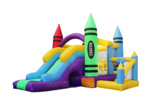 Residential Crayon Inflatable Bouncer Slide Combo Qb285 pictures & photos