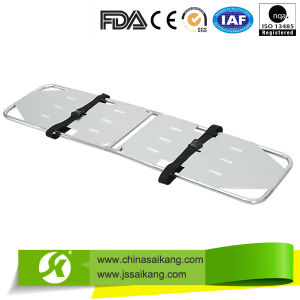 Use-Safely Aluminum Alloy Medical Stretcher with Head Immobilize pictures & photos