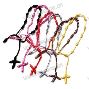 Mix Colors Cheap Cord Rope Knotted Thread Rosary Bracelet for Women and Men